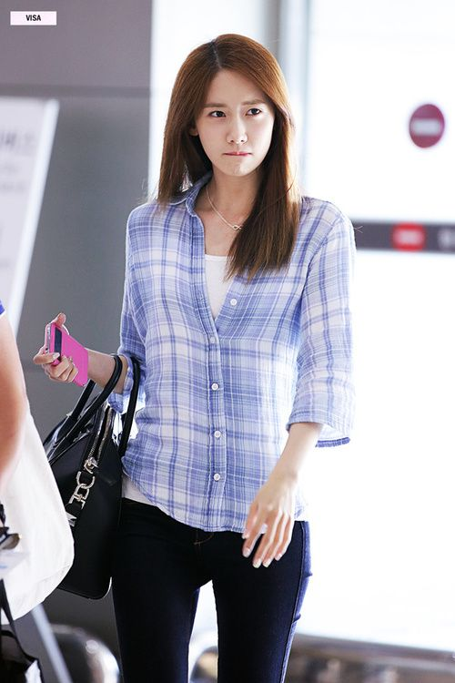 Snsd Yoona Korean Stars Airport Fashion Casual Style Pinterest Yoona Posts And Snsd
