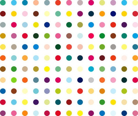 : Hirst Spots, Damian Hirst, Polka Dots, Lyserg Acid, Diethylamid Lsd, Spots Paintings, Damien Hirst, Art News, Acid Diethylamid