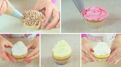 La glassa frosting ci permette di decorare i cupcake in mille modi! I cupcake sono dolci buonissimi, ma il bello dei cupcake è