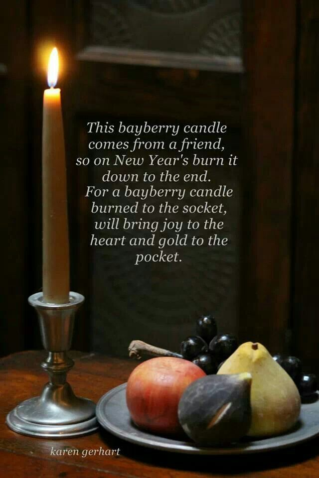 Bayberry candle Poem