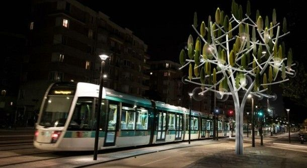 L'arbre à vent exploite les courants d'air en ville