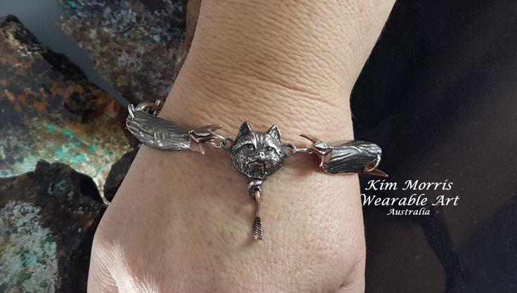 Aussie Metal Clay by Kim Booklass  hand sculpted bracelet wearable art