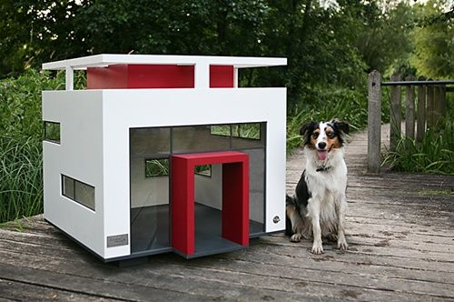 """A tribute to Bauhaus design, this Cubix puppy pad gives """"Going to the dog house"""" a whole new meaning."""