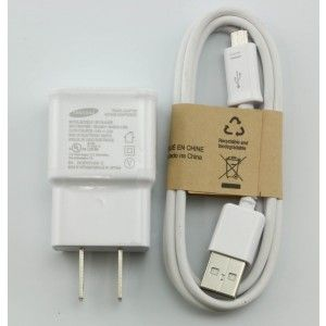 EP-TA10JWE Samsung Galaxy Note2 S4 Wall Charger 5.3V 2A Micro USB 3.0 Cable