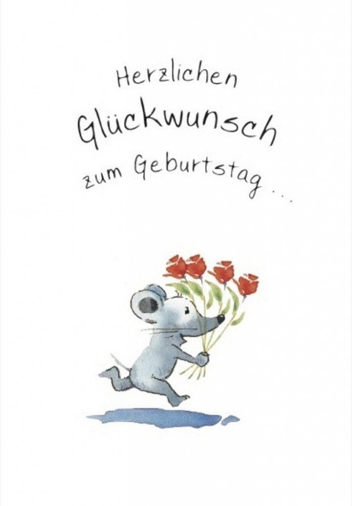 Herzlichen Gluckwunsch Zum Geburtstag Klappkarte Grusskarte Von