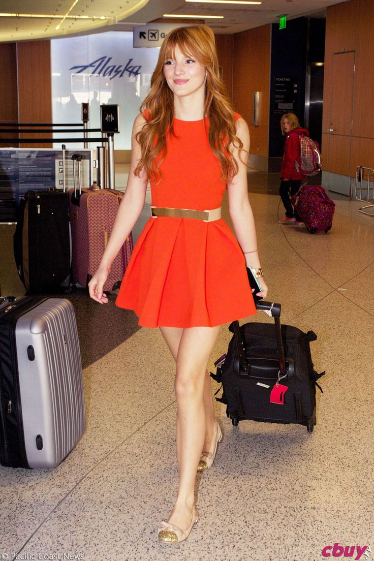 Bella Thorne in Red Dress