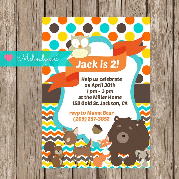 Printable Woodland Animal Birthday Invitation and Party Kit! by MelindyDesigns on Etsy