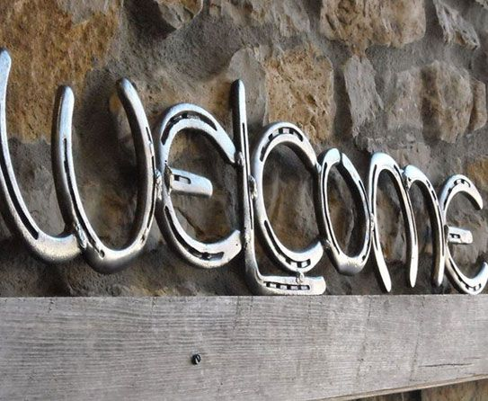 Out of Town: Horseshoe Art for Farmhouse Interiors Home Sign