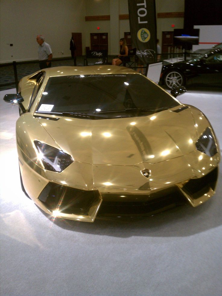 Golden Lamborghini-and how much does that cost..?! I want