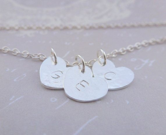 Personalised Silver Heart Charm Necklace  by SilverTreeJewellery, £11.99