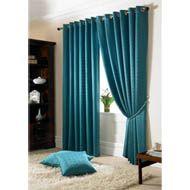 Madison Teal Eyelet Curtains