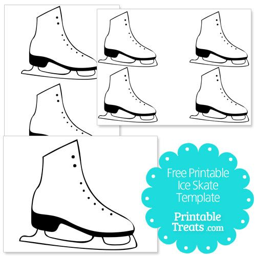 free printable ice skate template from printabletreats com shapes