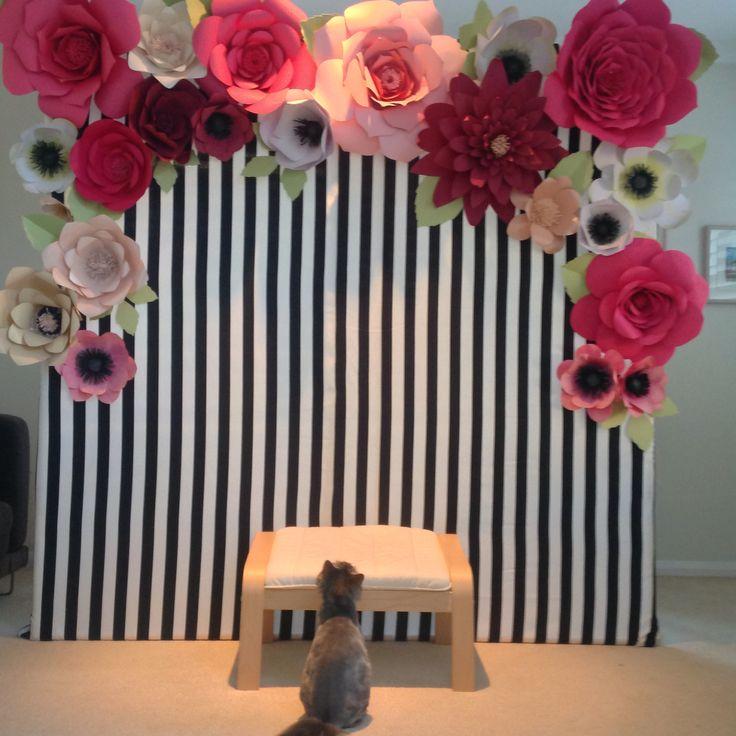 Inspiração Painel de flores gigantes