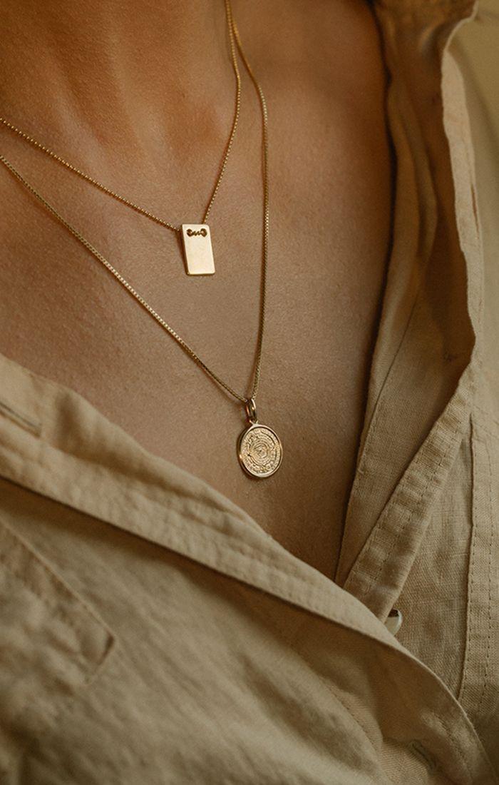 Leah Alexandra Jewellery – Collar de oro maya e identificación dorada ….