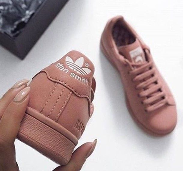 shoes adidas adidas superstars kind of dark pink mauve shoes sneakers stan smith tennis peach pink rose adidas stan smit adidas stan smith pink