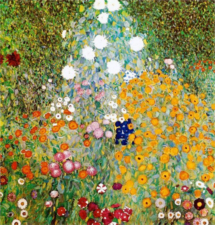 Gustav Klimt Flower Garden Painting