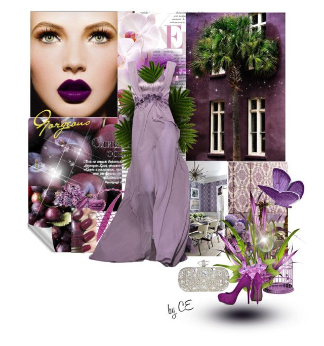 """""""♥ Plum colour ♥"""" by carmenecheve ❤ liked on Polyvore featuring Blink and Marchesa"""