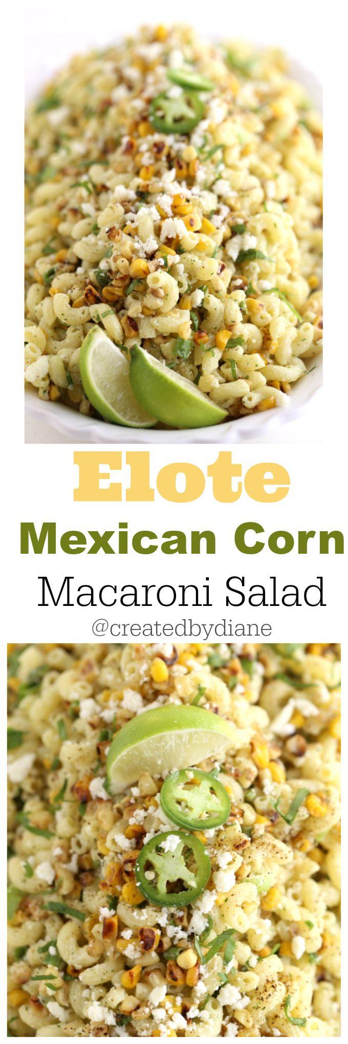 Mexican Macaroni Salad @createdbydiane