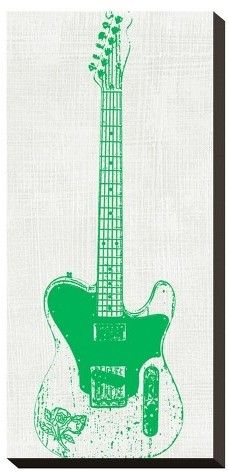 Art.com Guitar Collector Ii By Kevin Inge Stretched Canvas Print