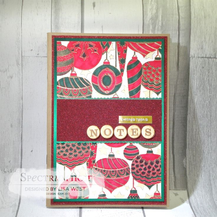 Designed by Lisa West using Spectrum Noir Colorista Christmas Morning Marker Pad and coloured using 'Holiday' Colorista Marker Pen Set #spectrumnoir #crafterscompanion #colorista #christmas #coloring #colouring #papercraft