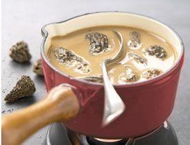 Sauce aux Morilles et au Porto, sauce aux morilles pour parfumer les brochettes d'abats, de viandes, de volailles.