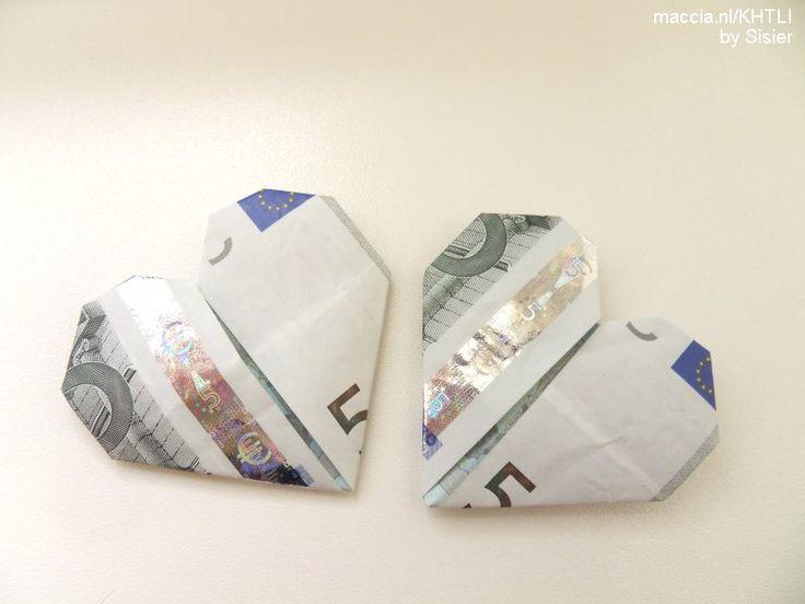 briefgeld als hartje vouwen