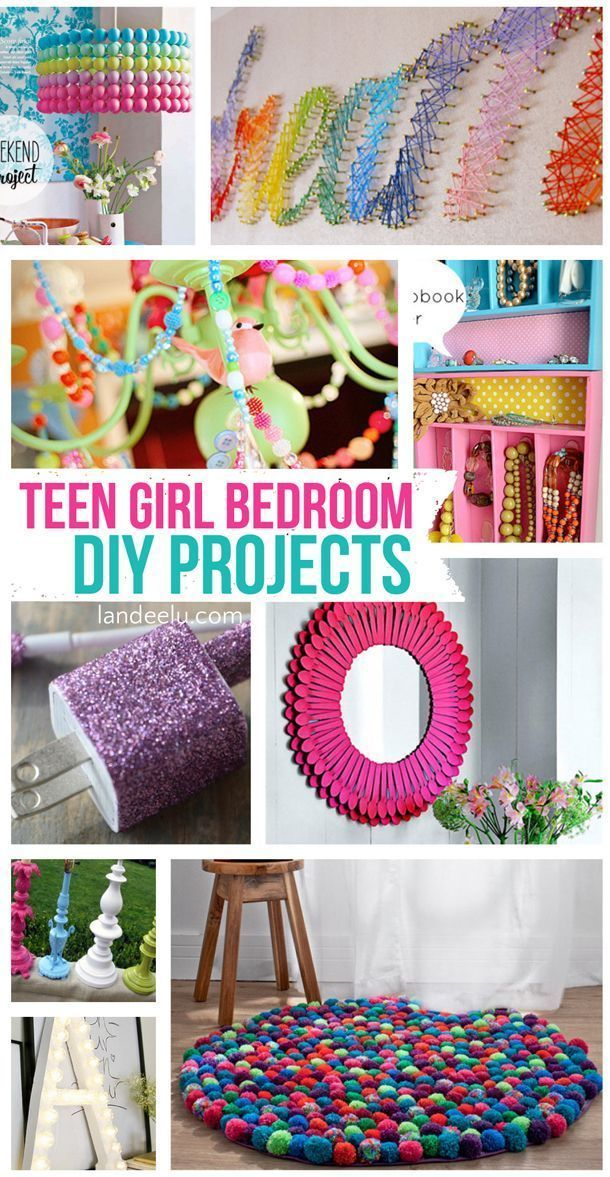 Teen Girl Bedroom DIY Projects | http://landeelu.com