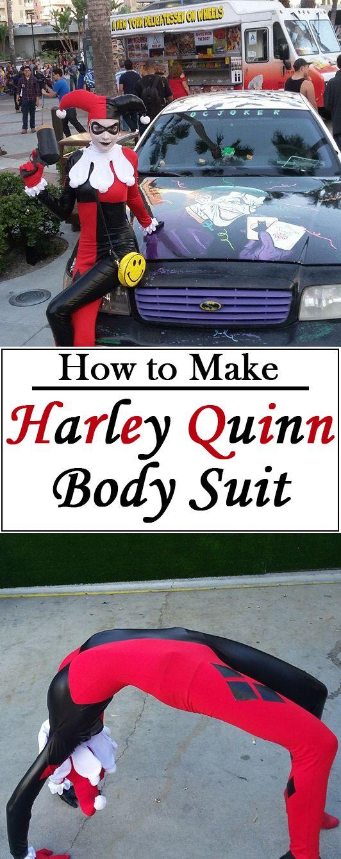 Classic Harley Quinn costume.