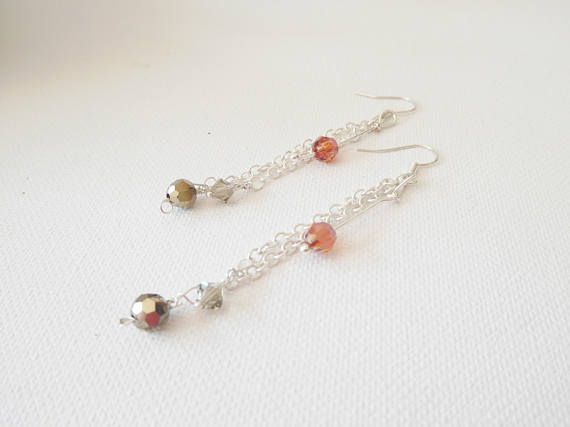 Swarovski Crystal earrings Crystal earrings Long drop