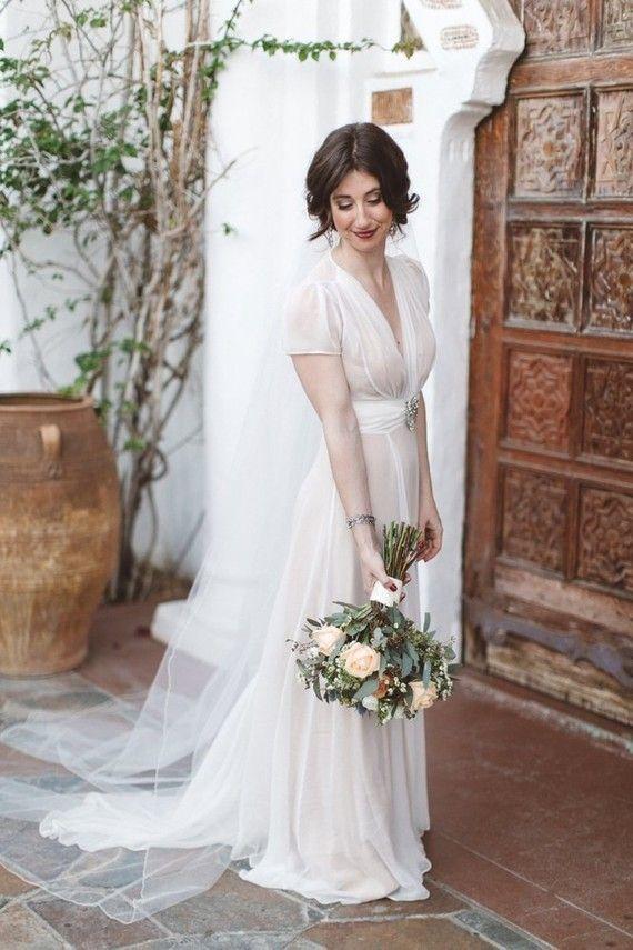 36 best Vintage Wedding Dresses images on Pinterest | Short wedding ...