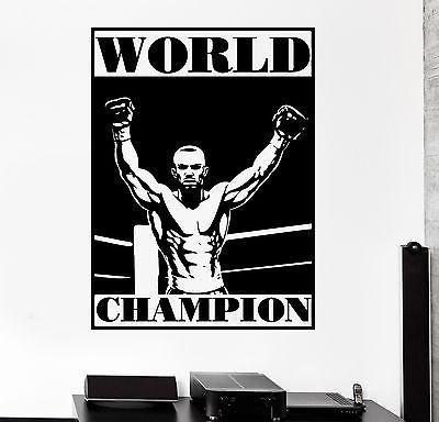Wall Sticker Sport Boxing Worls Champion Martial Arts Vinyl Decal Unique Gift (z2978)