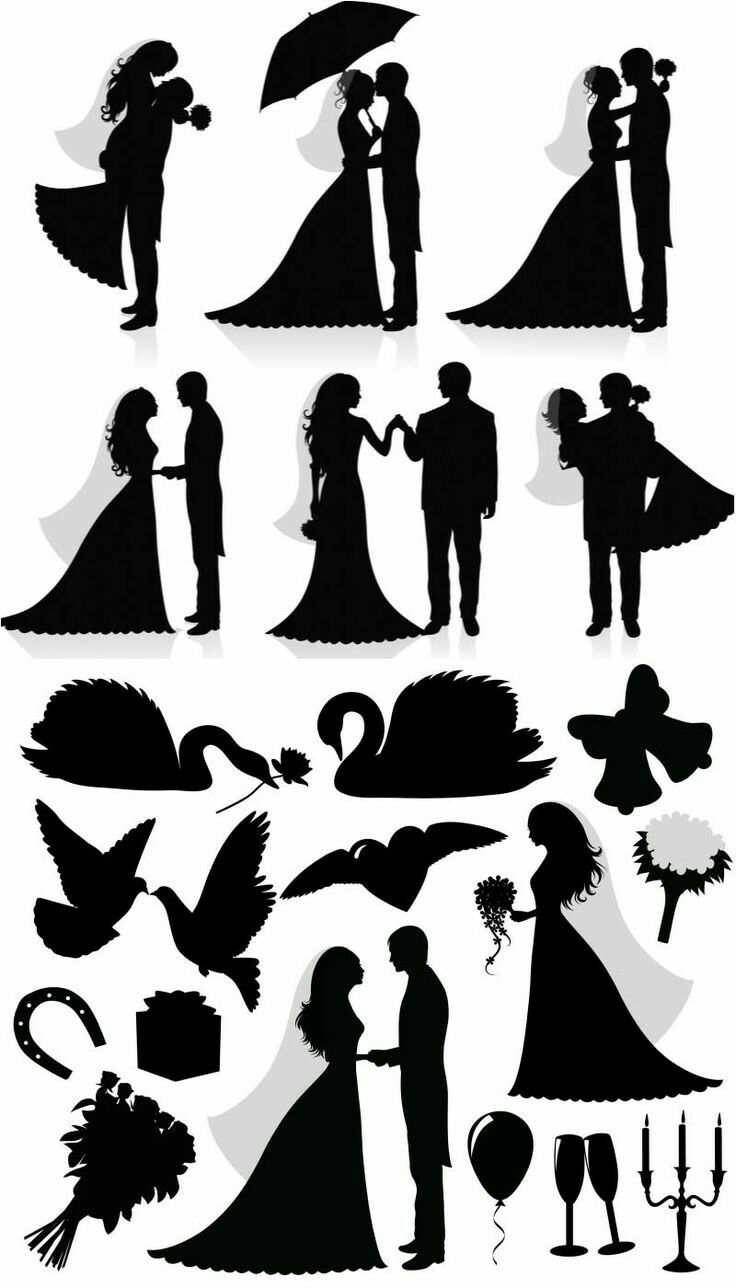 ~ SILHOUETTES ~ Wedding and romance designs
