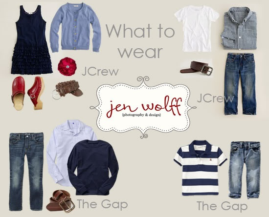 """Photography- I love her """"What to wear"""" for a photo shoot suggestions. Updated each season."""