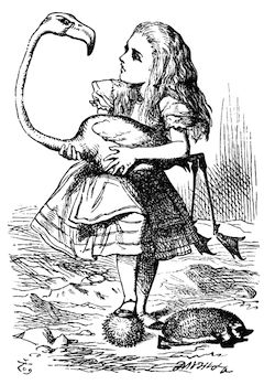 Drawing of Alice from Alice in Wonderland