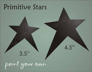Country Star Stencils | Stencil Primitive Star Shape Design Craft Projects Scrapbook Country ...