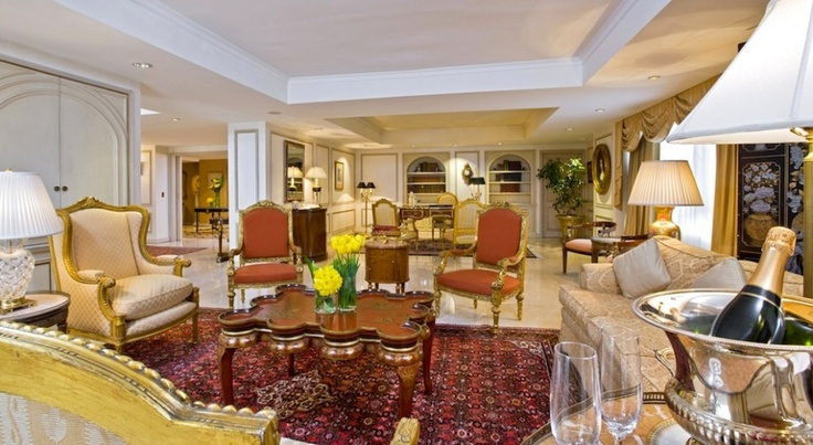 Park Tower, Buenos Aires, Argentina: St Regis Suite. Occupying the entire top floor of the Park Tower, the 380-square-meter suite is the top choice of the hotel's most discerning guests.