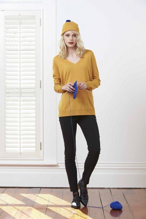 Standard Issue V Neck Slouchy Sweater