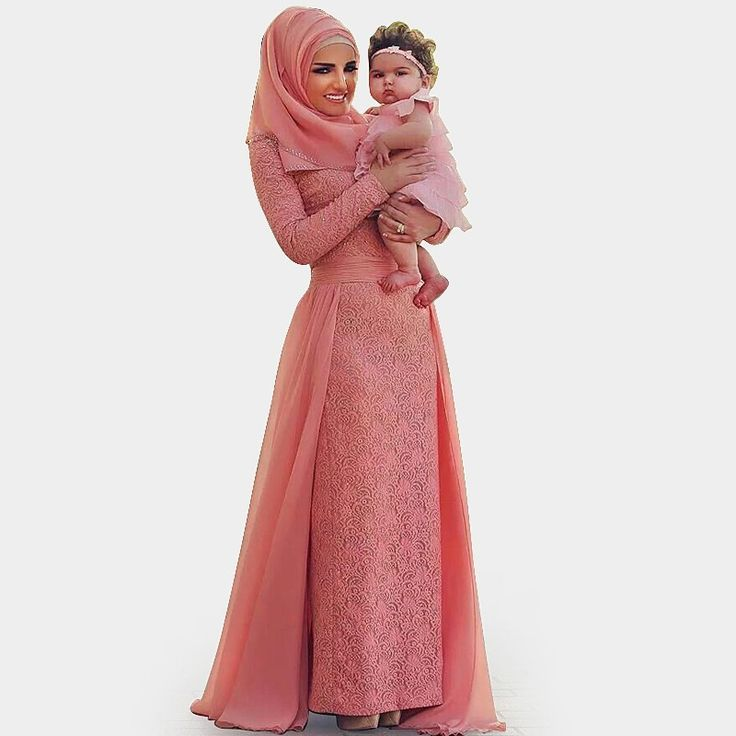 >> Click to Buy << Muslim Abiye Coral Lace Long Formal Evening Party Hijab Dresses Sleeves Moroccan Kaftan Gowns Robe De Soiree #Affiliate