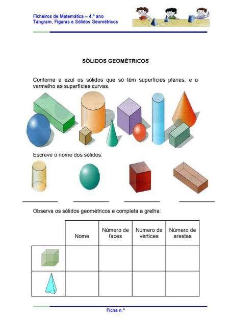 Atividades com Sólidos Geométricos
