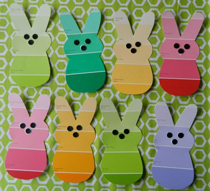 Make a bunny garland from paint chips!