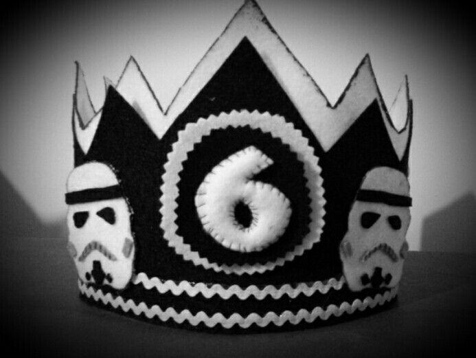Corona de fieltro. Stormtroopers. Star Wars. Hand made
