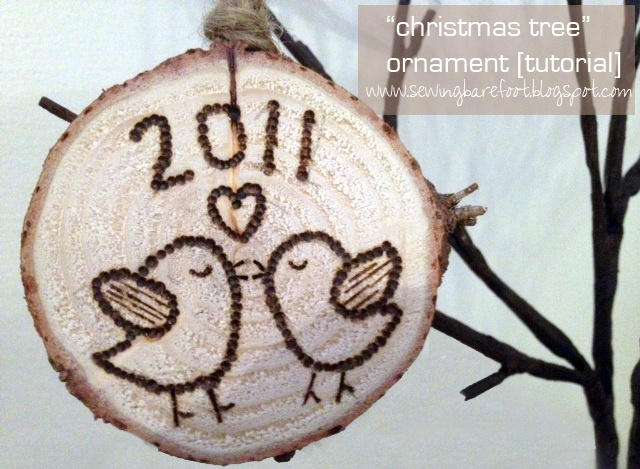 Sewing Barefoot: Love Bird Christmas tree ornament