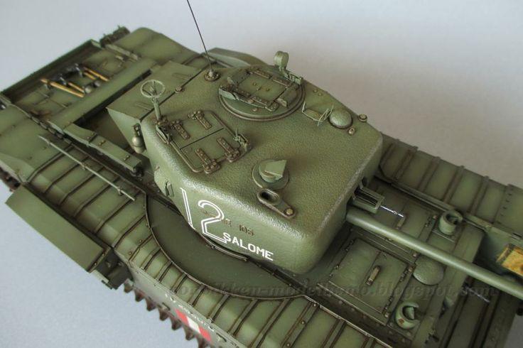Von Vikken - modellismo statico: Churchill Mk. IV - Filters & Washes #VonVikkenModellismo