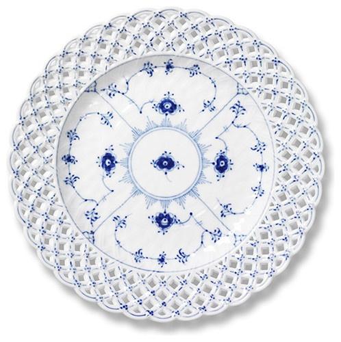 Royal Copenhagen Blue Fluted Full Lace Pierced Plate - Royal Copenhagen traditional dinnerware