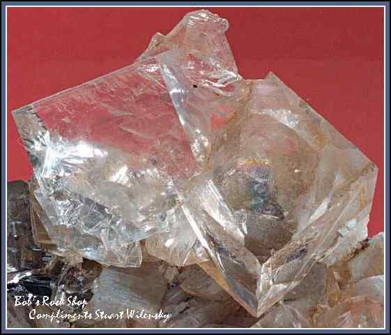 Bob's Rock Shop: Clear Fluorite Cubes on Dolomite