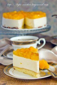 Веб Повар!: Йогуртовый торт с персиками