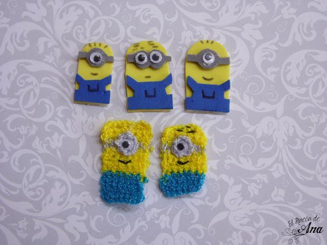 Moños para niña de los Minion   #minion de fomi y minions hechos con ganchillo #crochet