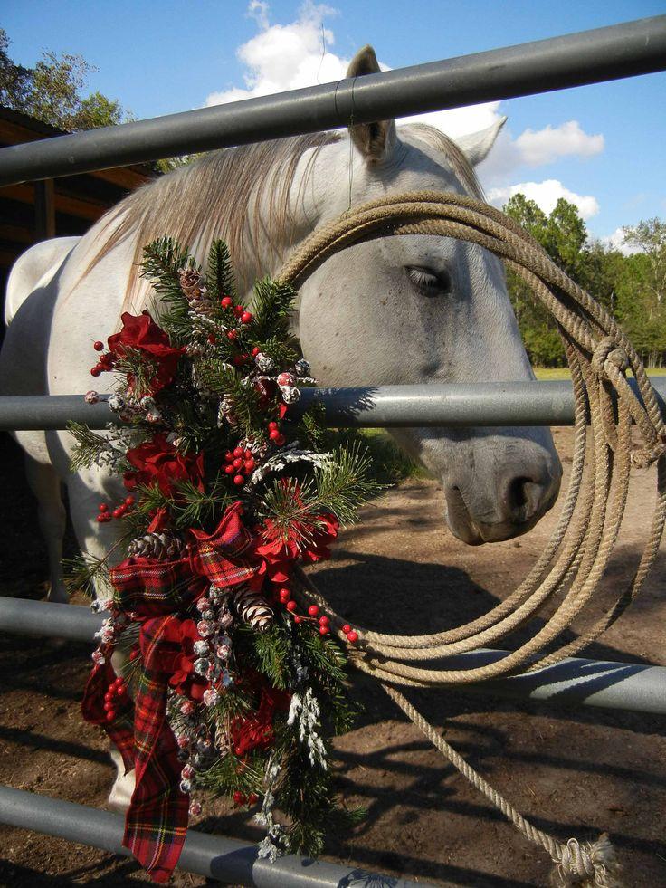 Christmas Wreath , Wreath For Door ,  Winter Wreath , Cowboy  Country. $89.00, via Etsy.