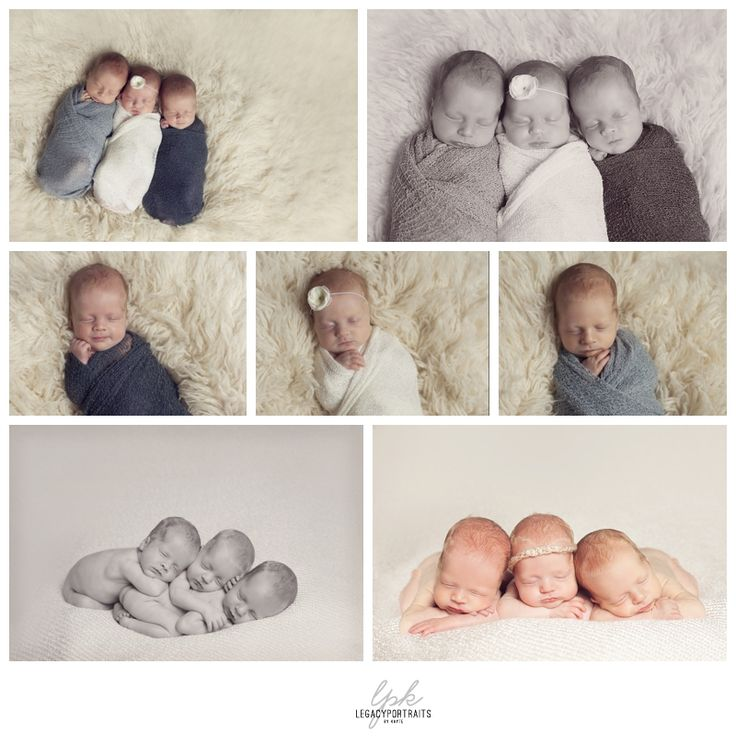 cute triplet collage