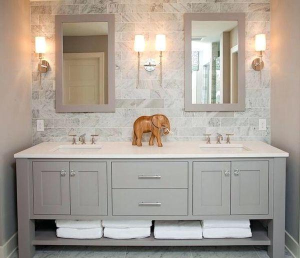 Impress Your Visitors With These 30 Charming Half Bathroom Layouts Bathroomvanitymirrors Bathroomsinkcab Bathroom Styling Bathroom Design Beautiful Bathrooms